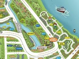 佛山绿岛湖手绘地图等三则