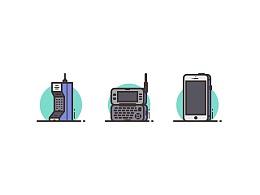 Illustrator中创建移动电话图标
