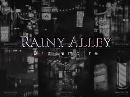 《Rainy Alley or neon city》