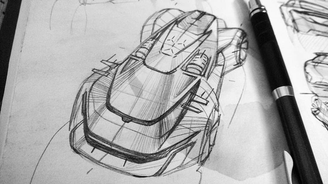 个人私藏汽车手绘临摹素材