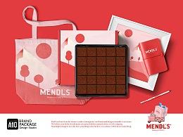 生巧包装设计-曼德斯小粉盒系列
