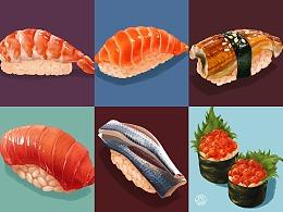 【寿司合集1】手握寿司 鲜虾寿司 三文鱼寿司 鳗鱼寿司