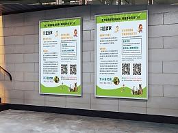 宣传海报  狂犬疫苗接种知识公益宣传 海报