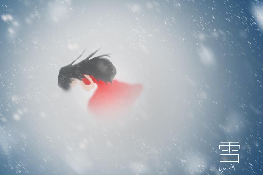 原创作品:雪 手绘