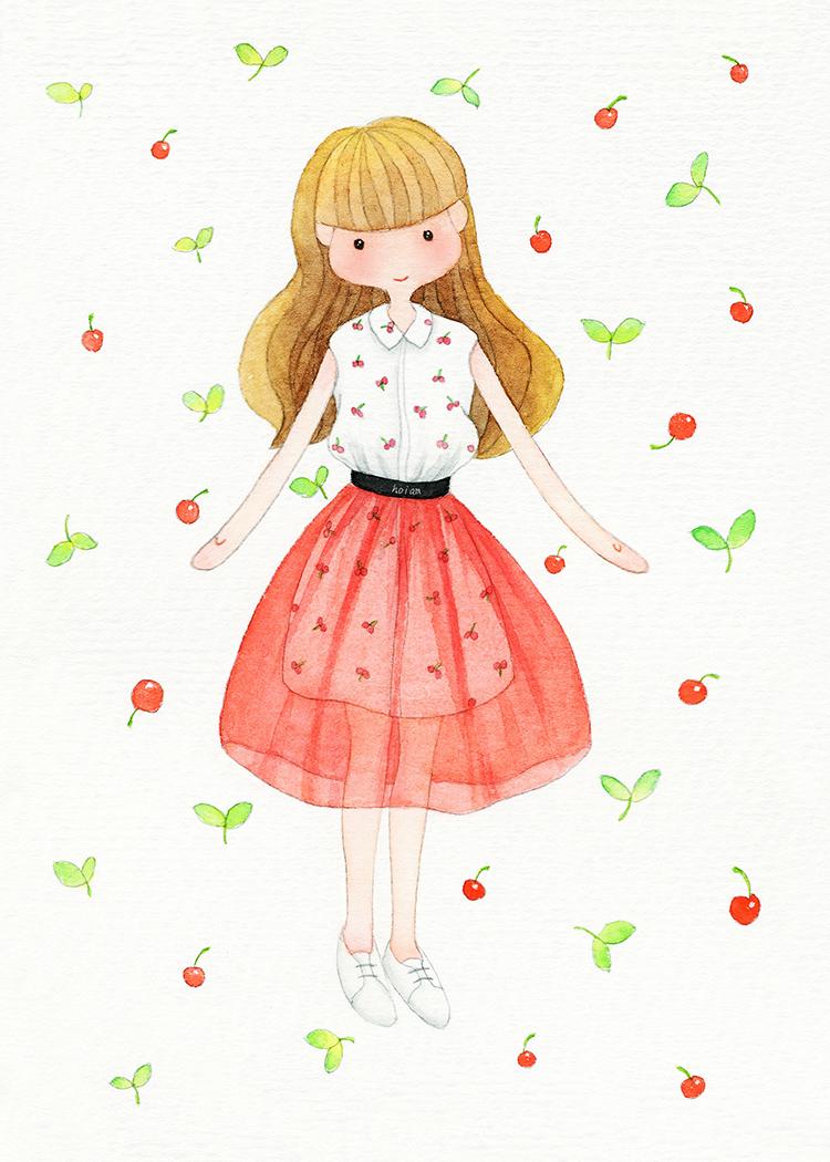 原创作品:红裙子
