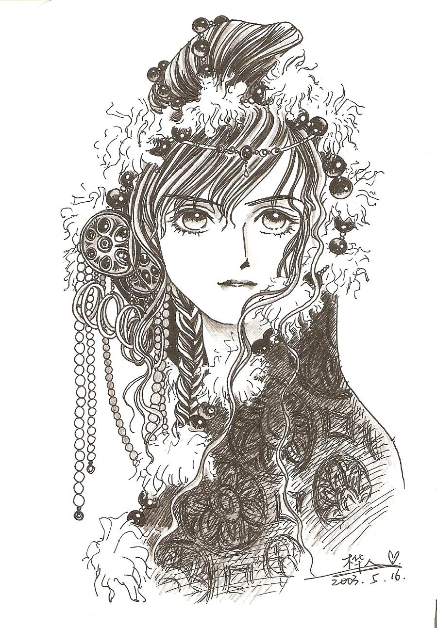 黑白手绘|插画习作|插画|oscartutu - 原创设计作品