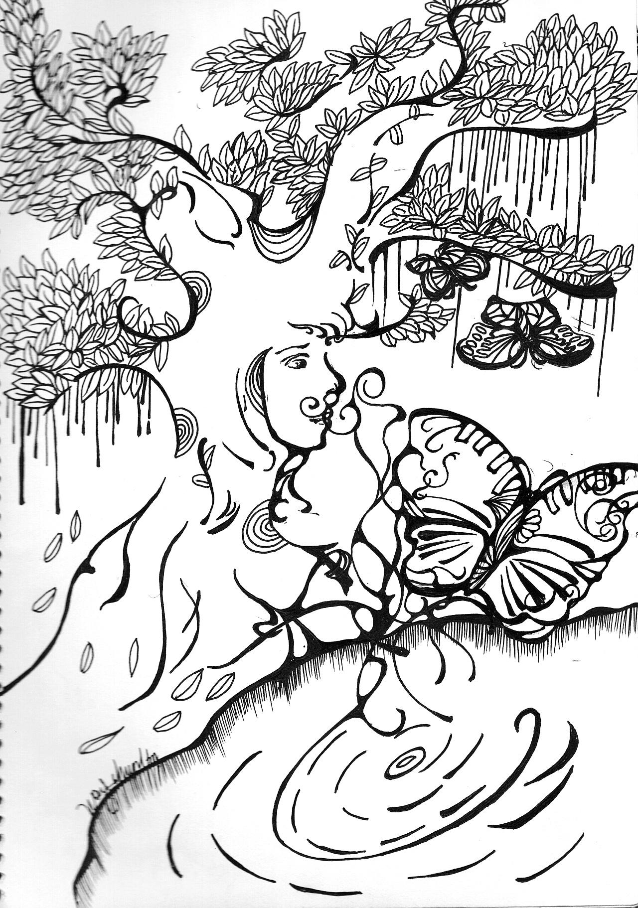 自我介绍手绘插画
