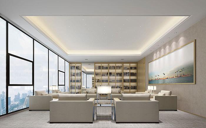 现代简约案例办公室装修设计风格|空间|室内设计|v案例上海那可以学室内设计图片