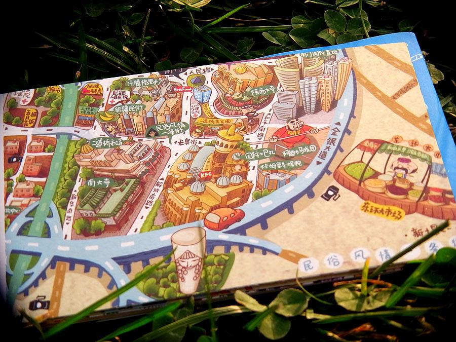 """""""作为旅游城市的乌鲁木齐,怎么就没有手绘地图呢?"""