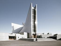 建筑摄影:东京圣母玛利亚大教堂