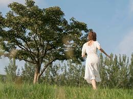 草地 树 与 人