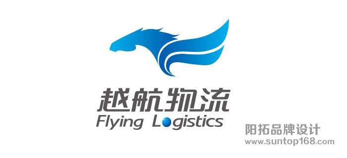 航空运输logo设计_物流行业标志设计_越航物流标志设计_阳拓logo设计图片