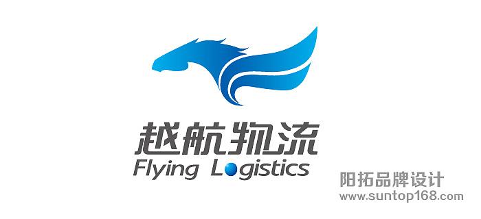 航空运输logo设计 物流行业标志设计 越航物流标志设计 阳拓logo设计