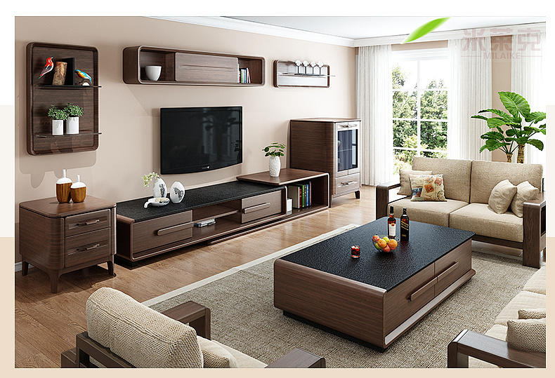 北欧茶几电视柜 家具电商详情页图片