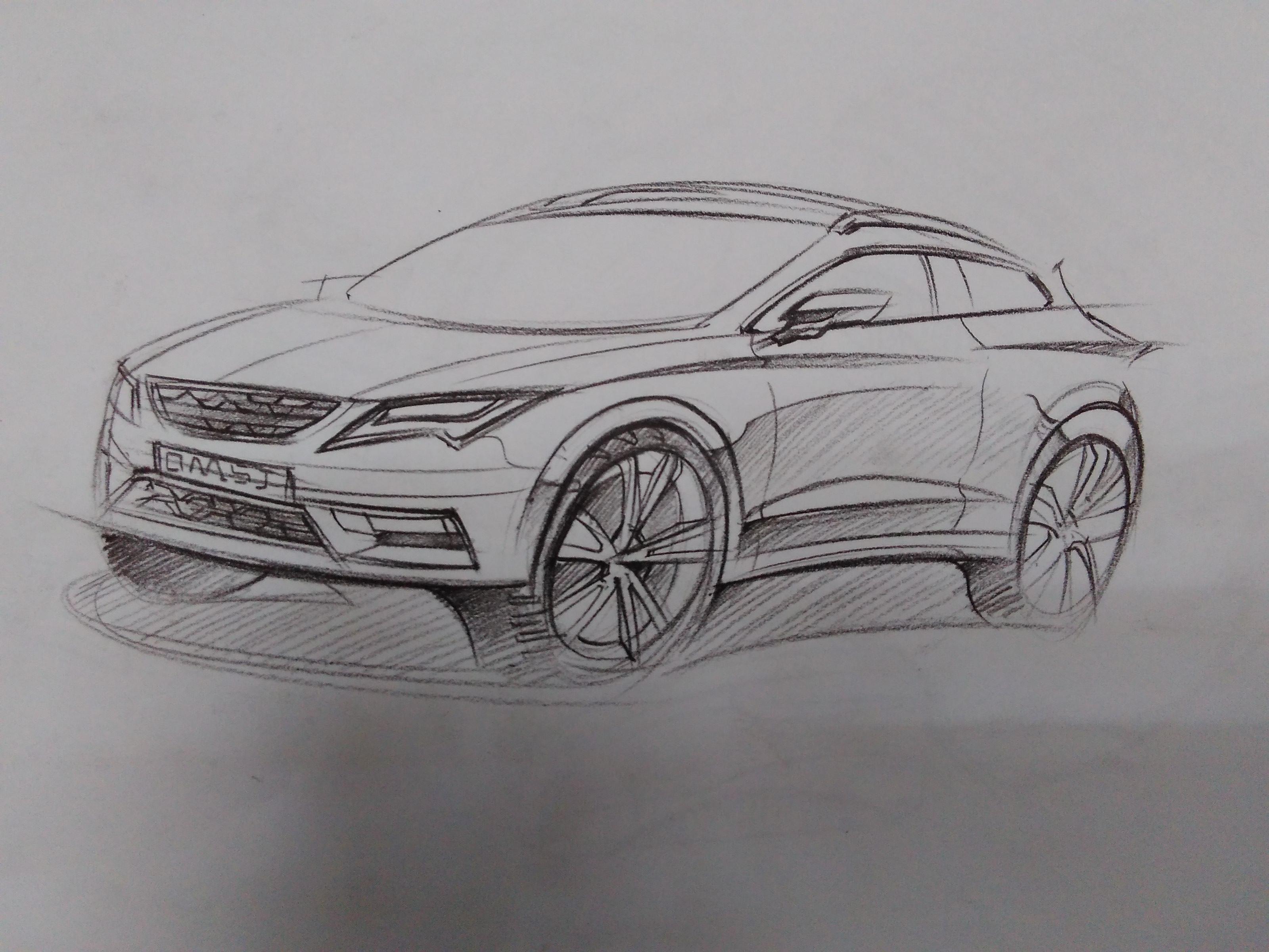 公司设计案例手绘素描作品.