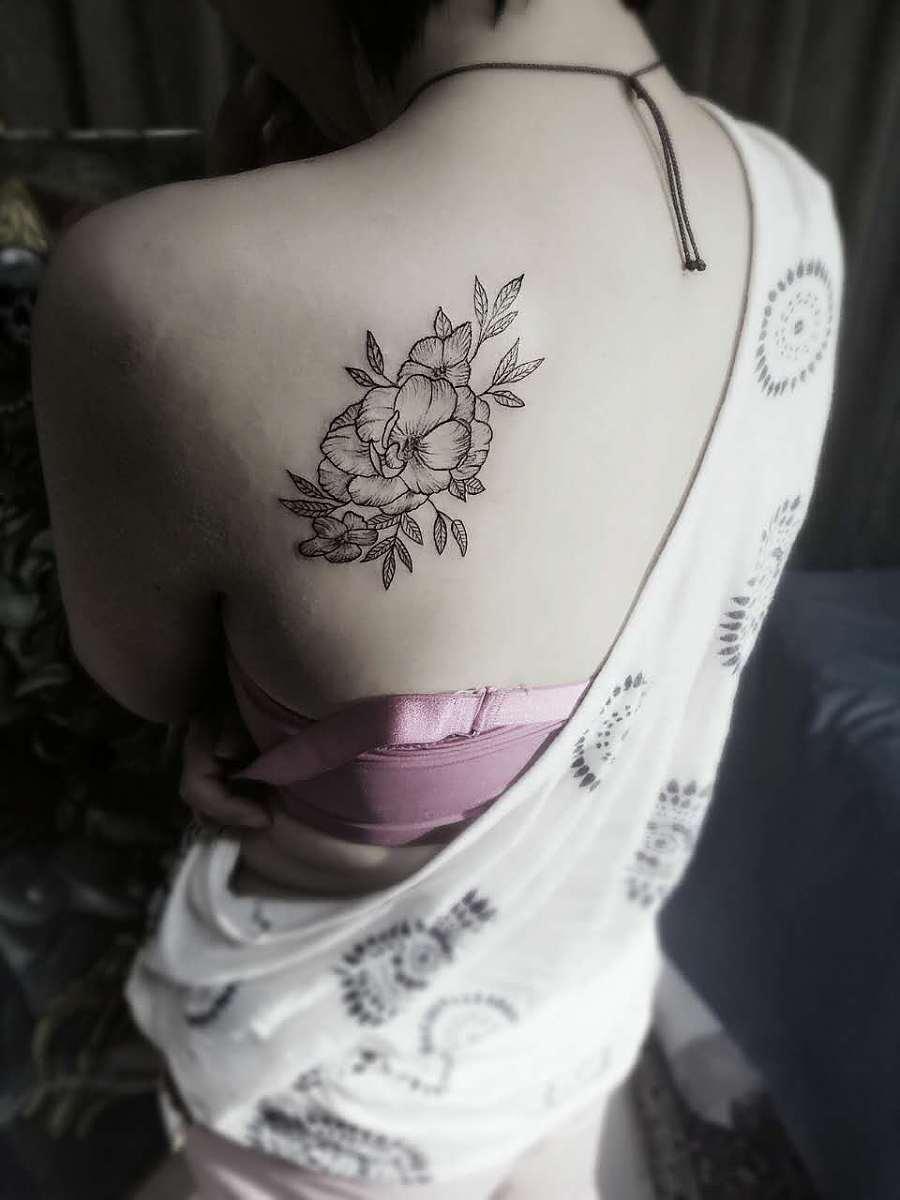 纹身-小花花