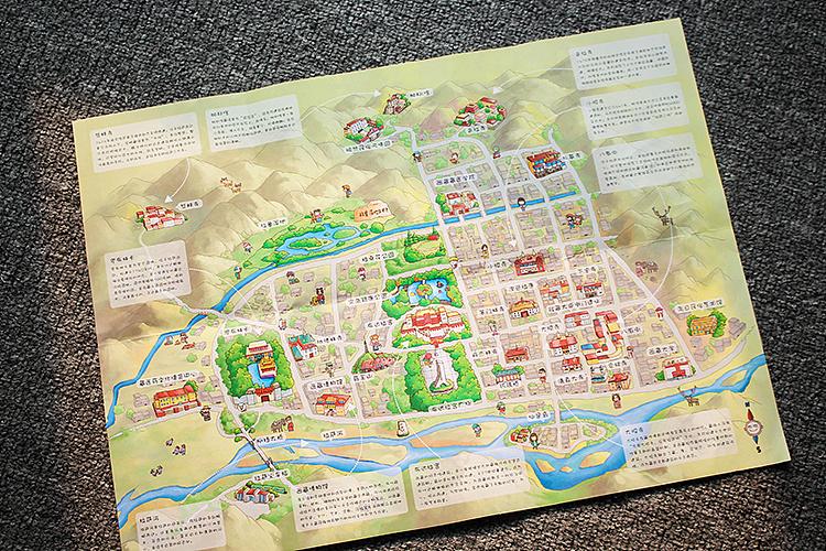 拉萨手绘地图