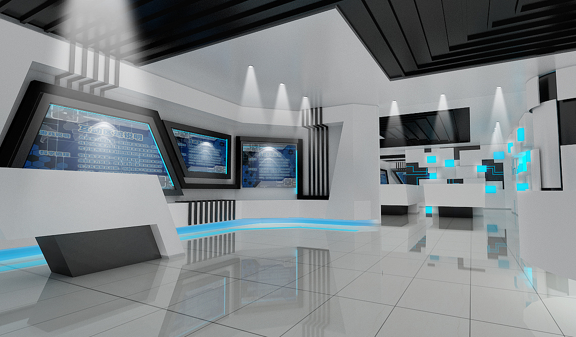 科技展览馆 空间 室内设计 真是cr7 - 原创作品