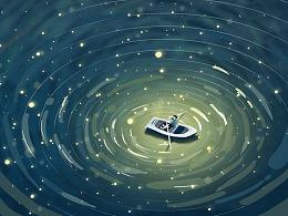 划船划累了 所以停下来玩个水
