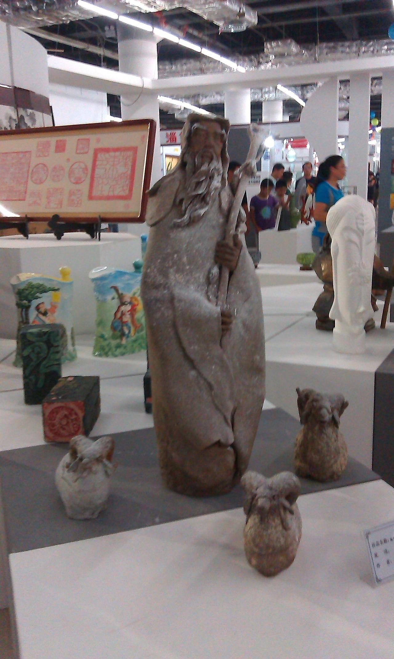 淄博陶瓷展美女彩绘
