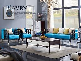 美式轻奢家具-盛百年-(沙发/床/餐桌/电视柜/边柜)