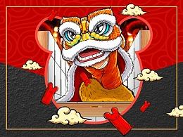《OPPEIN·鼠年新春系列插画海报》