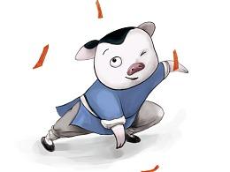 卡通猪IP形象设计