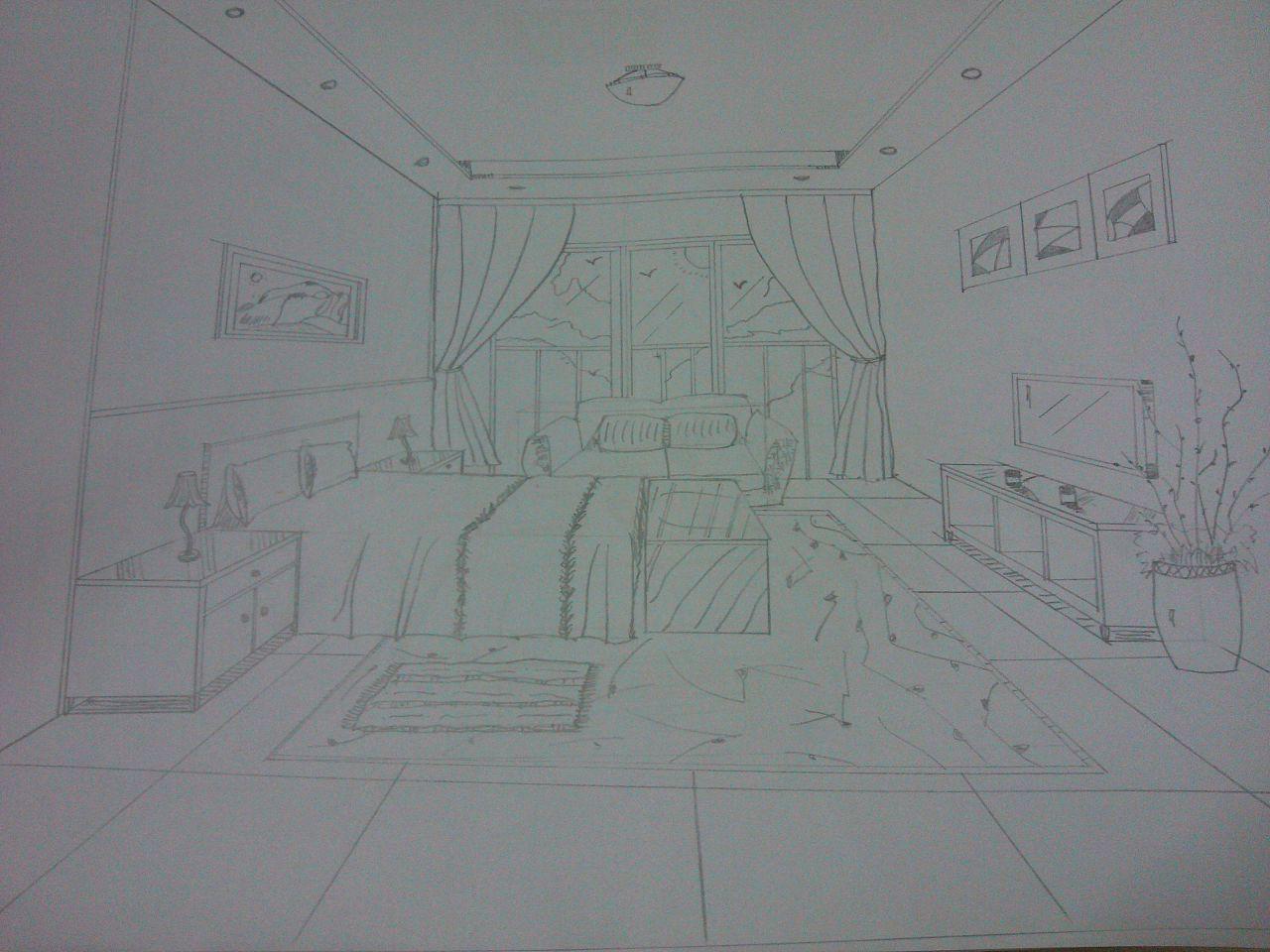 一组室内手绘图