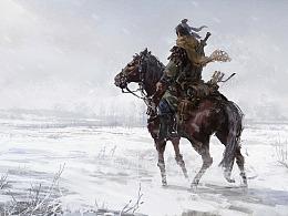 #送别金庸#天涯茫茫西踏雪,浪子策马闯昆仑。