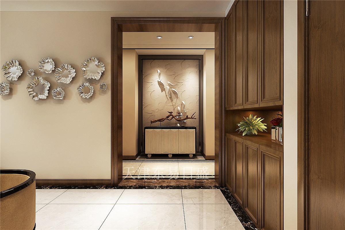格调临泉新中式风格129平米玄关装修效果图图片