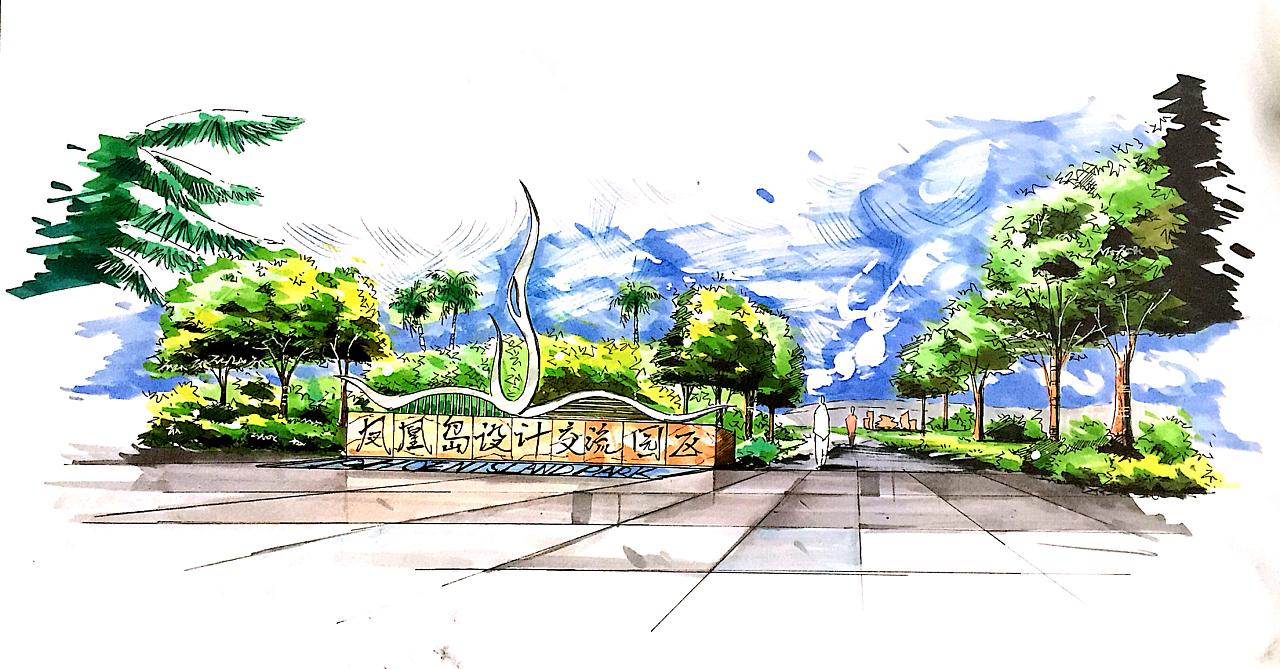 建筑园林景观手绘设计!没啥事,就是想发发而已.