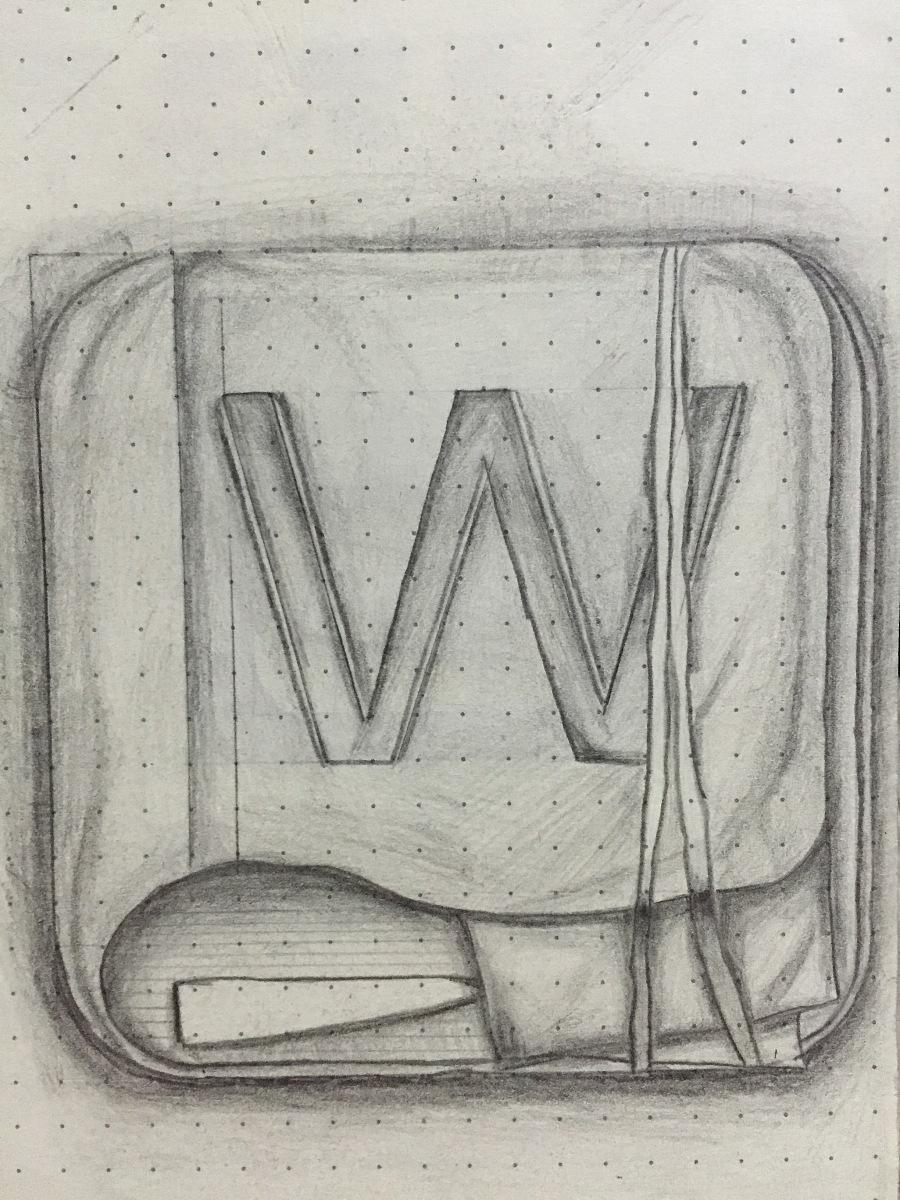 素描结构手提包
