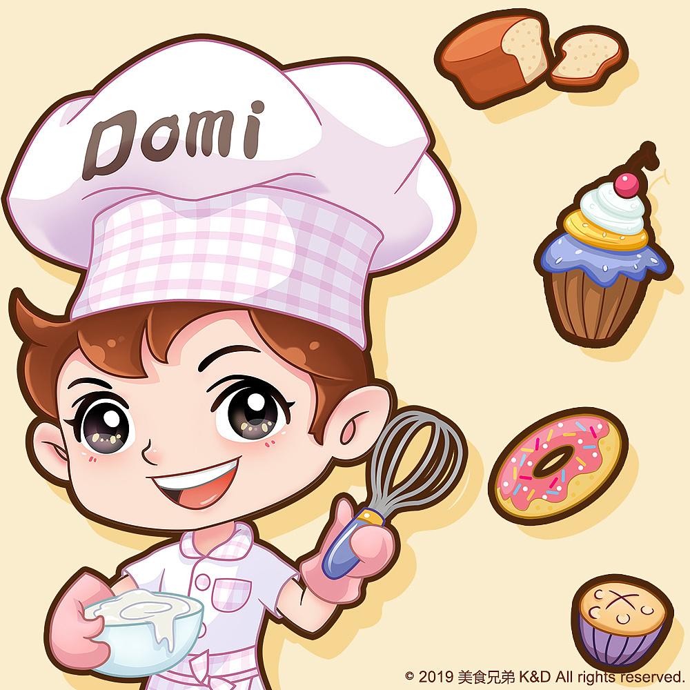 《美食小厨弟k&d》卡通形象设计图片