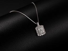珠宝产品白底场景摄影修图