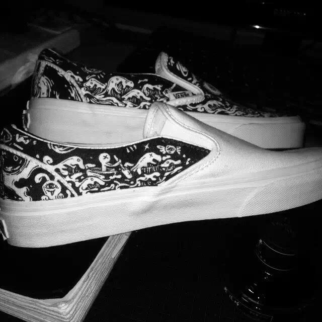 vans手绘鞋