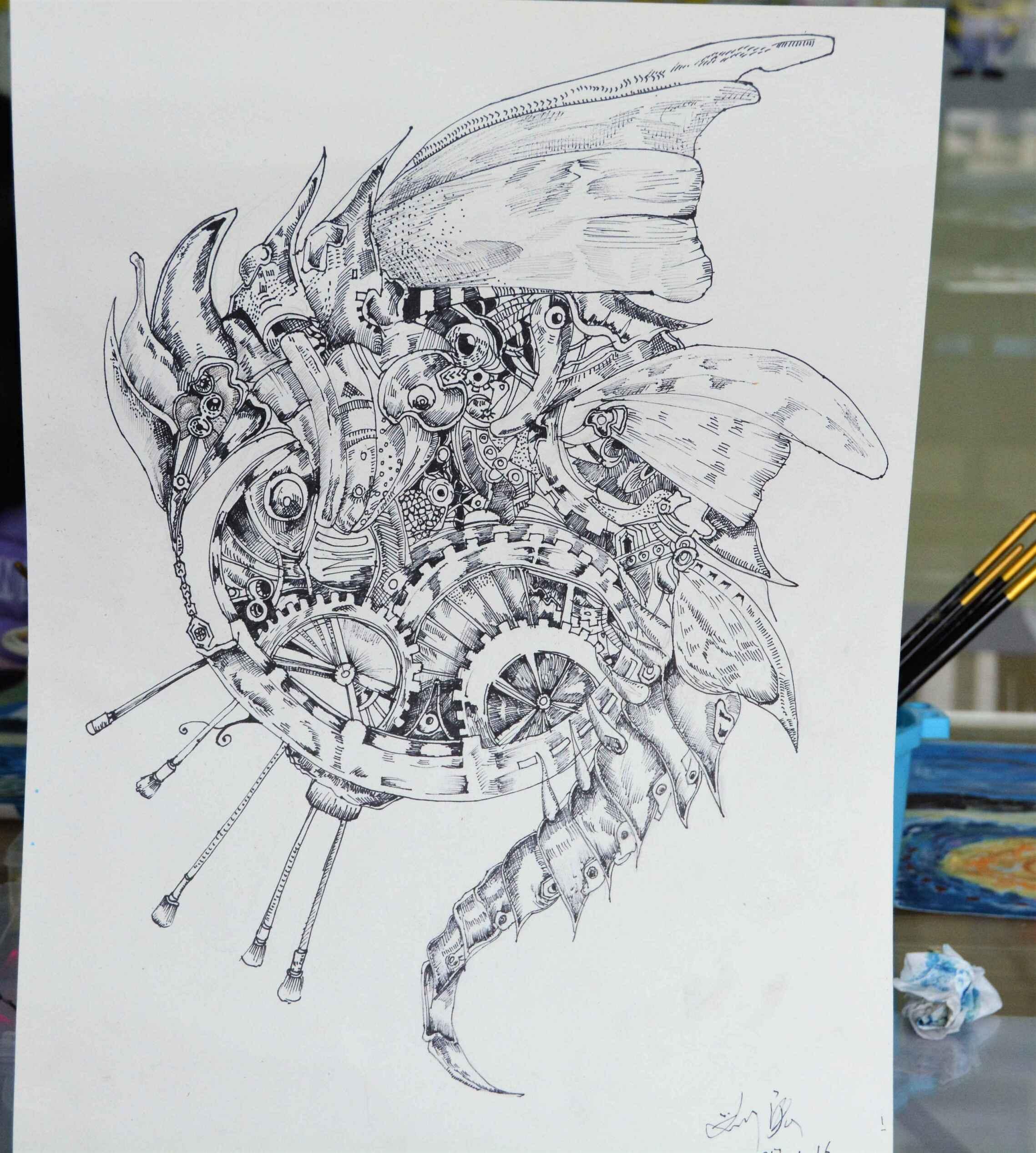 装饰画|插画|插画习作|mr猪小粥01 - 原创作品 - 站酷图片