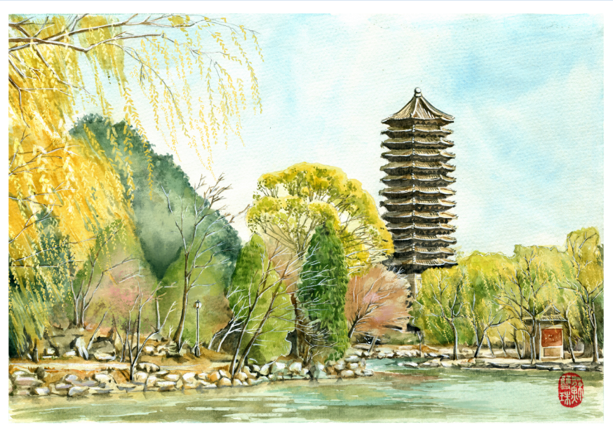 手绘高校系列——《北京大学》