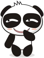 黑白熊表情包第一弹图片