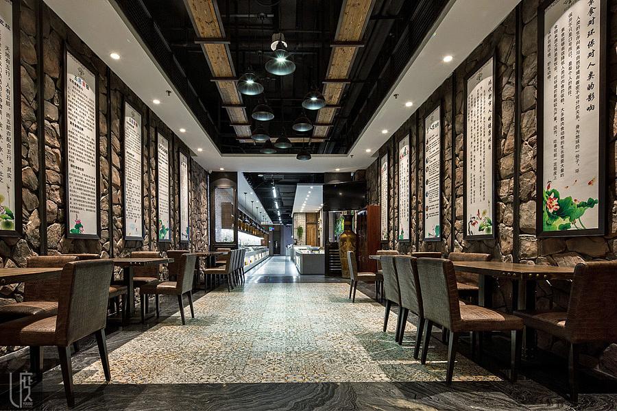 积福树案例商贸招聘说明广州尤度大厦素食室内设计餐厅平面设计设计金泰素食餐厅图片