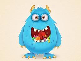 Illustrator创建糖果怪物卡通角色