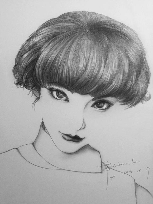 铅笔画-写实人物