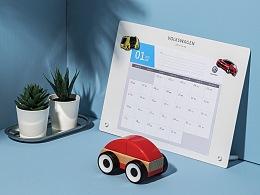 大众汽车2019新年台历礼盒