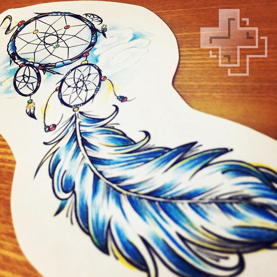 纹身手稿——捕梦网