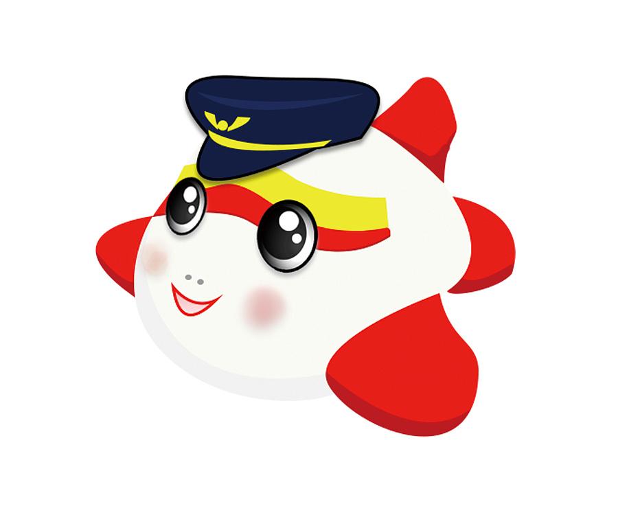 应邀设计的飞机吉祥物