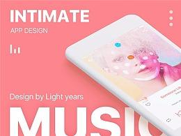 《Intimate》音乐APP-利用原型工具做高保真界面