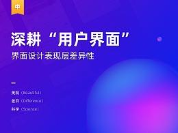"""深耕""""用户界面""""(中篇)- 界面设计表现层差异性"""
