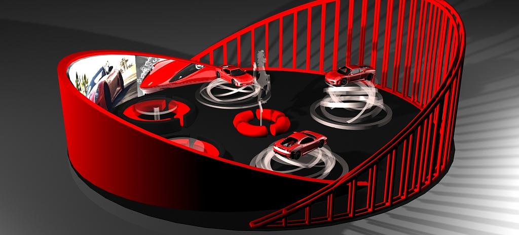 法拉利车展设计(展示设计课程作业)
