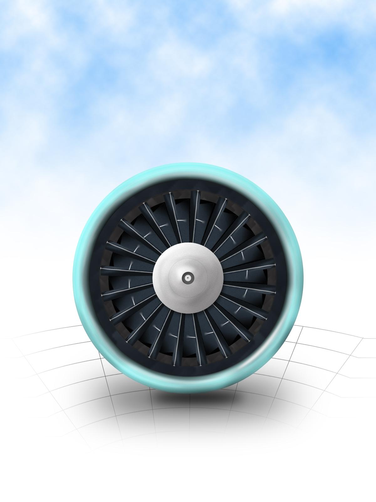 临摹追波上一个飞机引擎的图标