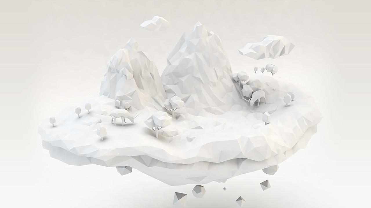 c4d视觉设计|三维|其他三维|山林小猎人 - 原创作品图片