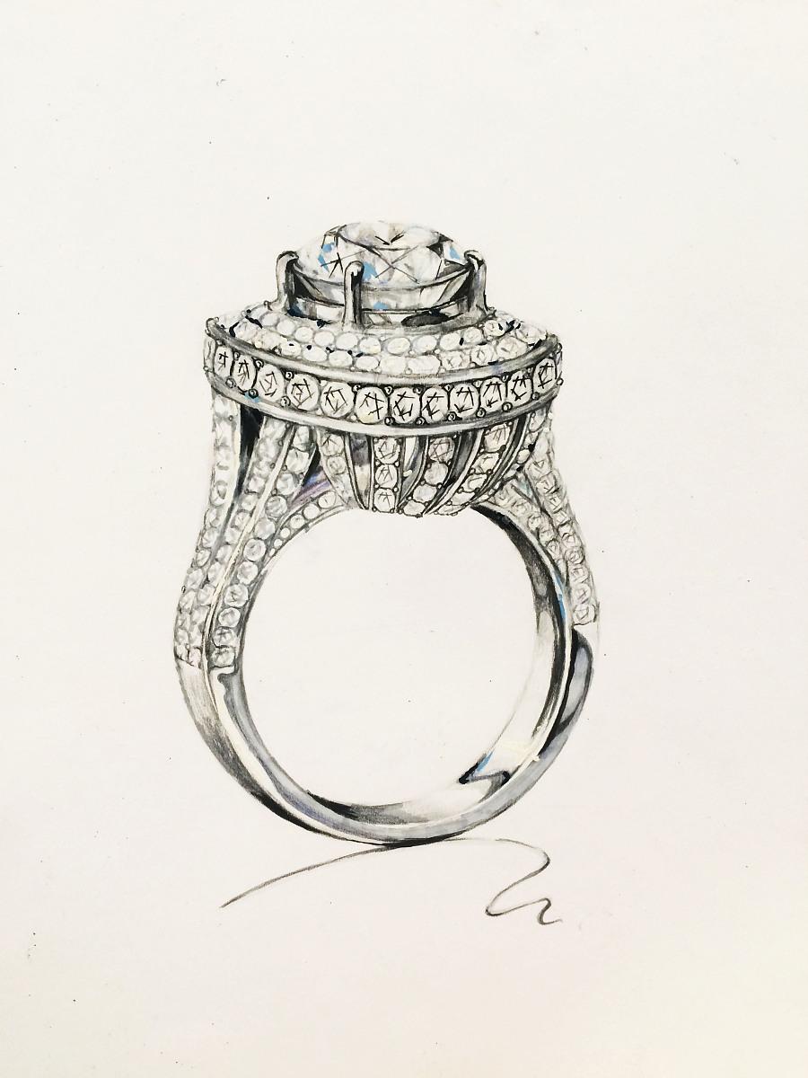 珠宝手绘|商业插画|插画|acelin1994 - 原创设计作品